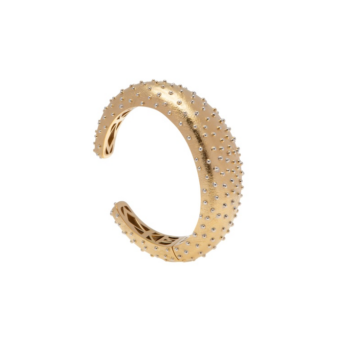 PANTOLIN OSTRICH BANGLE BRACELET GOLD