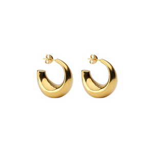 SYSTER P BOLDED EARRINGS GOLD