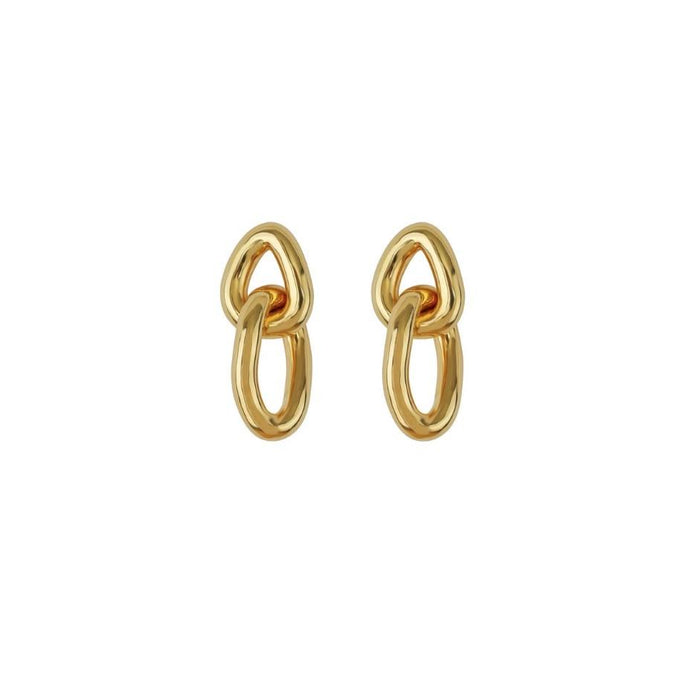 SYSTER P BOLDED LINKS EARRINGS GOLD