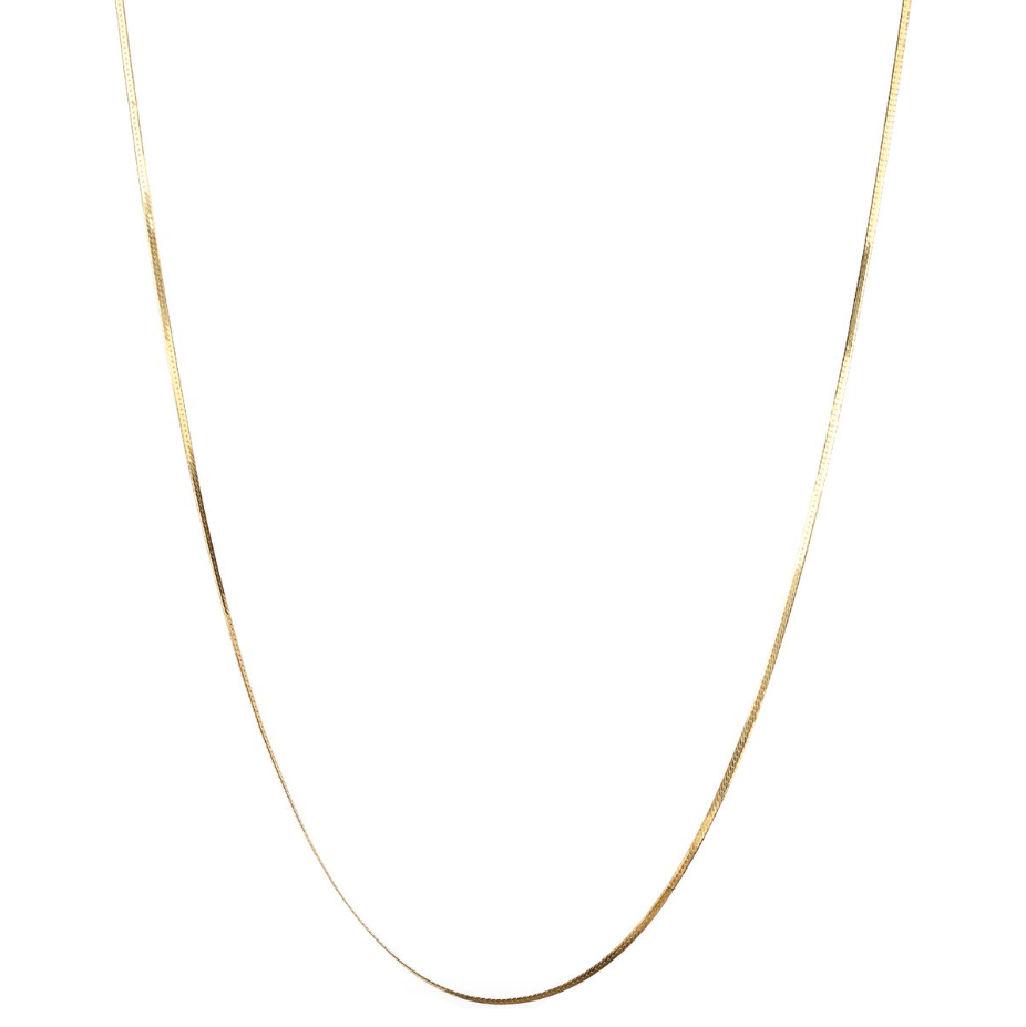 SYSTER P HERRINGBONE LONG NECKLACE GOLD