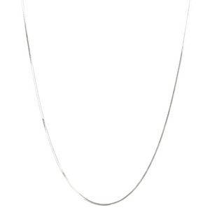 SYSTER P HERRINGBONE LONG NECKLACE SILVER
