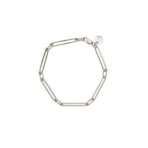 SYSTER P LINKS SQUARED BRACELET SILVER