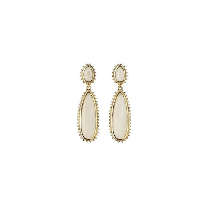 SYSTER P MEJJA STONE DROP EARRINGS GOLD
