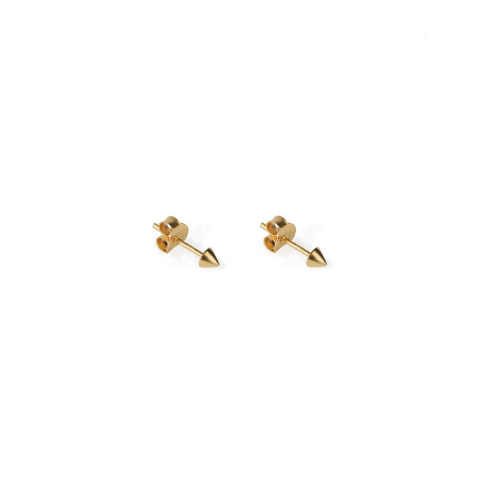 SYSTER P MINI STUD CONE EARRINGS GOLD