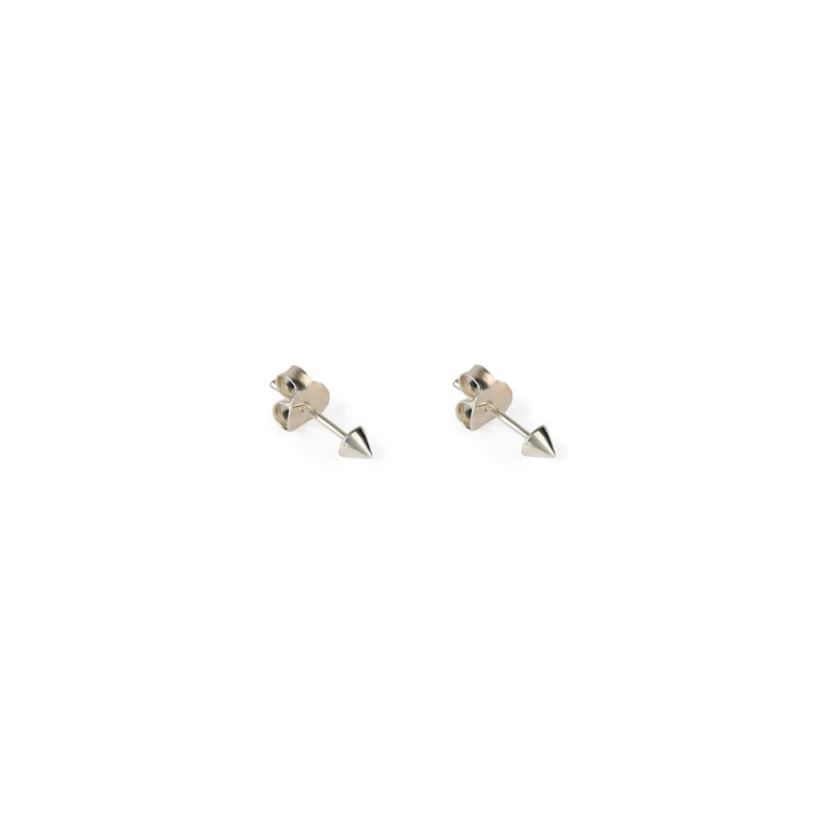 SYSTER P MINI STUD CONE EARRINGS SILVER