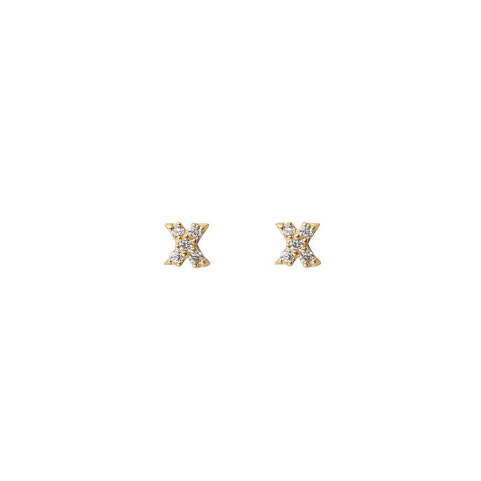SYSTER P MINI STUD X  EARRINGS GOLD