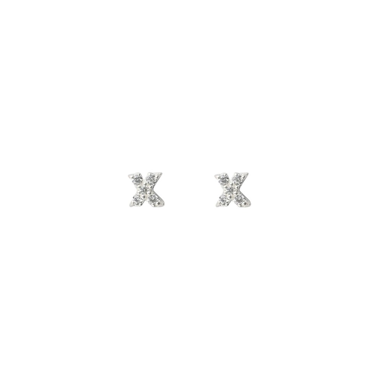 SYSTER P MINI STUD X  EARRINGS SILVER
