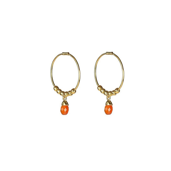 SYSTER P MINI TEARDROP EARRINGS GOLD