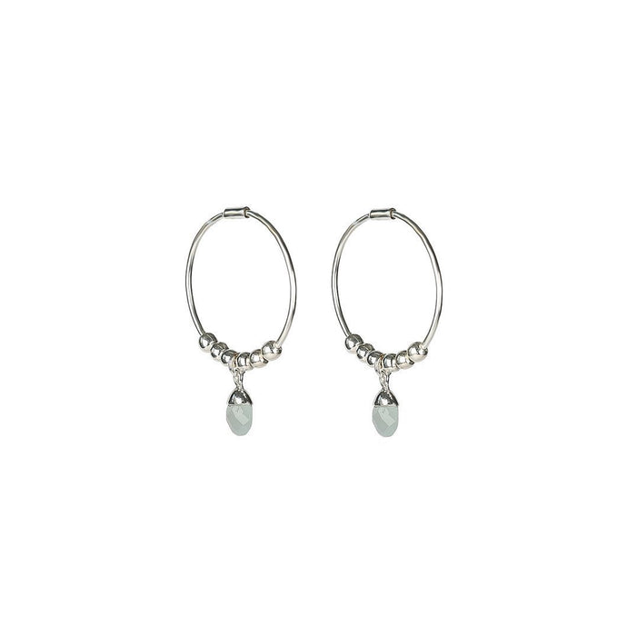 SYSTER P MINI TEARDROP EARRINGS SILVER