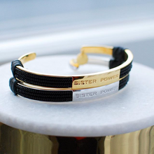 Load image into Gallery viewer, SYSTER P POWER BRACELET BLACK GOLD