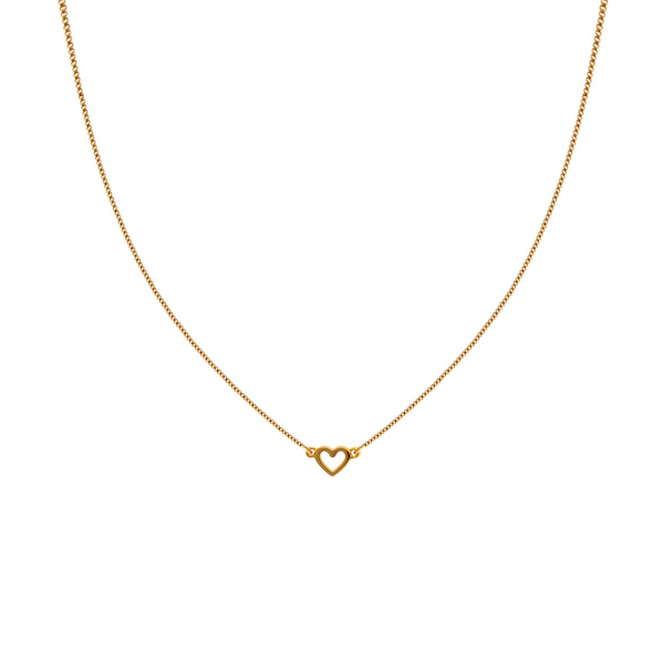 SYSTER P SNAP NECKLACE PLAIN HEART GOLD