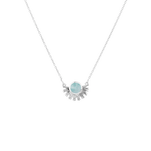 SYSTER P SUNBURST NECKLACE SILVER