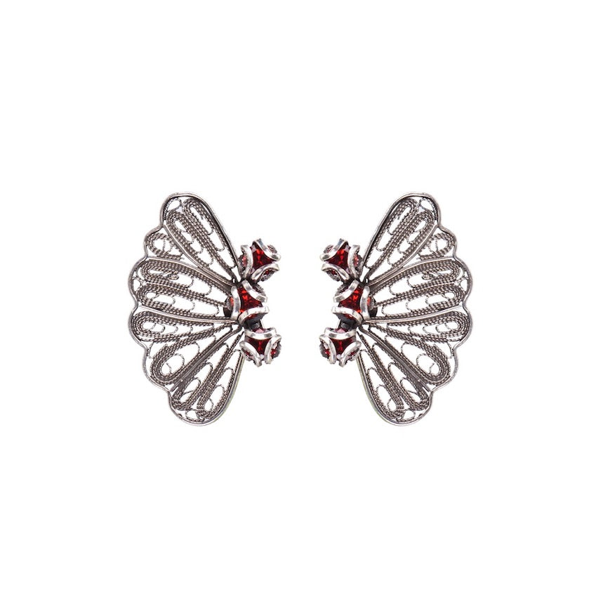 YVONE CHRISTA NY RED DELIGHT COLLECTION EARRINGS