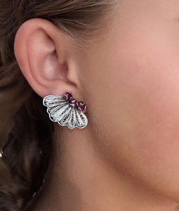 YVONE CHRISTA WILD SILK MOTH EARRING