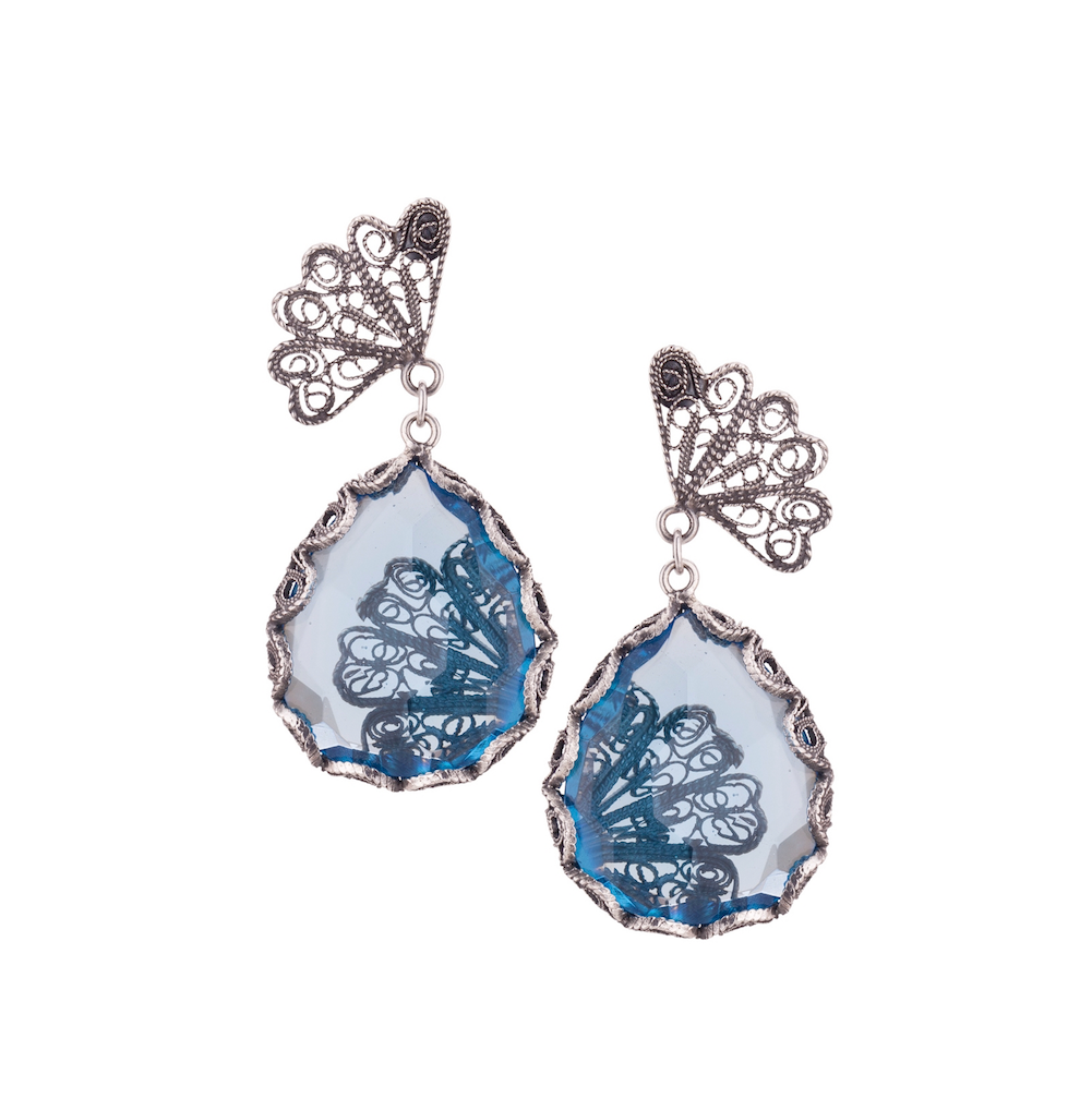 YVONE CHRISTA NY JAPANESE FAN EARRINGS