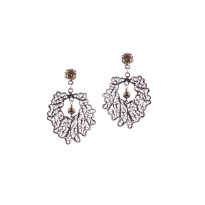 YVONE CHRISTA OAK LEAF EARRINGS