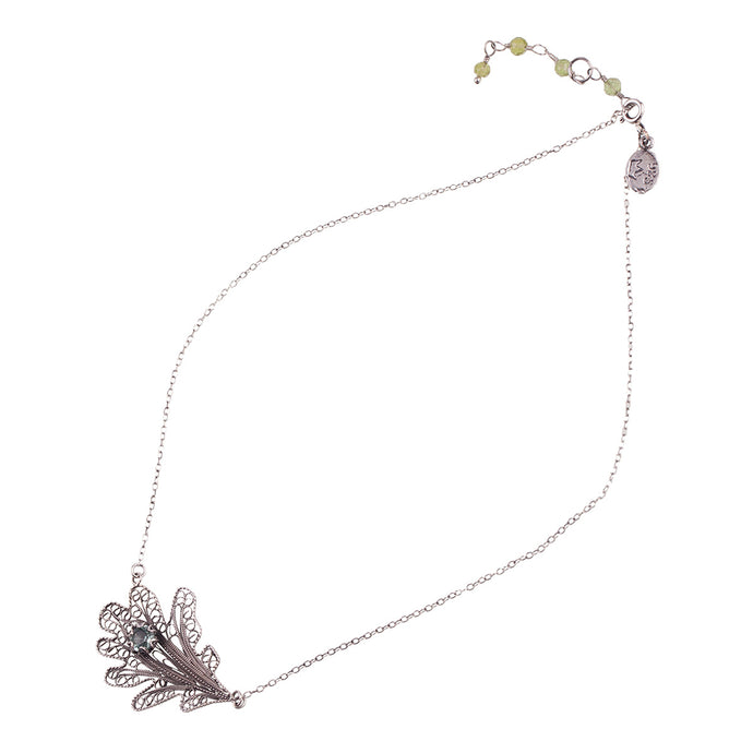 YVONE CHRISTA-OAK LEAF-NECKLACE-C5090