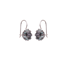 Load image into Gallery viewer, YVONE CHRISTA TULIP EARRINGS OVAL HOOK, AQUA LEMURIA