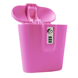 PROTECTIVE PINK PORTABLE SAFE