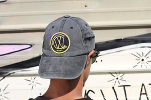 Grey Dad Hat (Black & Gold VWC patch)
