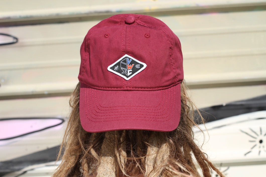 Maroon Dad Hat (red, white & blue VWC patch)