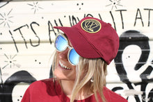 Load image into Gallery viewer, Maroon Dad Hat (Gold & Black Patch)