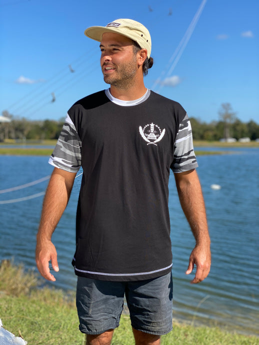 VWC 2021 T-shirt Black + Grey/White Camo