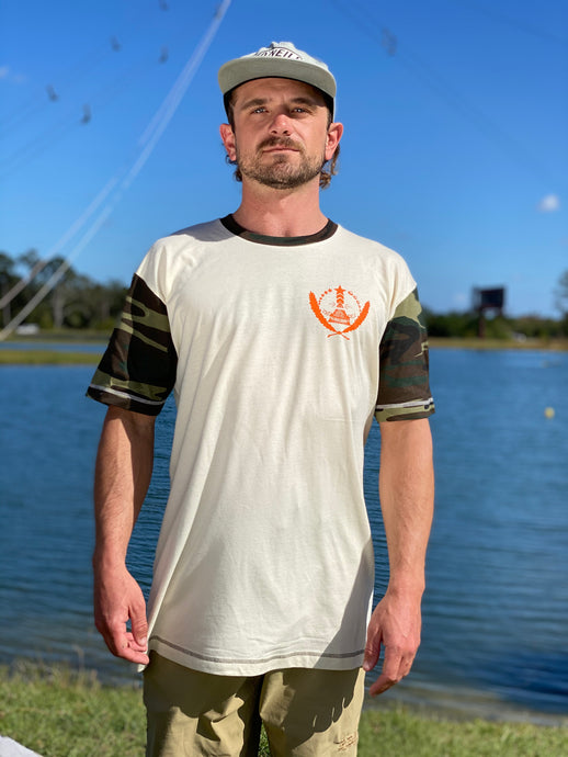VWC 2021 T-shirt Cream with green Camo