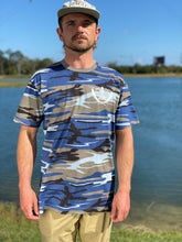 Load image into Gallery viewer, VWC 2021 T-shirt Blue/Grey Camo