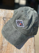 Load image into Gallery viewer, Green Dad Hat (red, white & blue VWC patch)