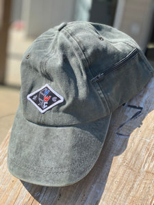 Green Dad Hat (red, white & blue VWC patch)