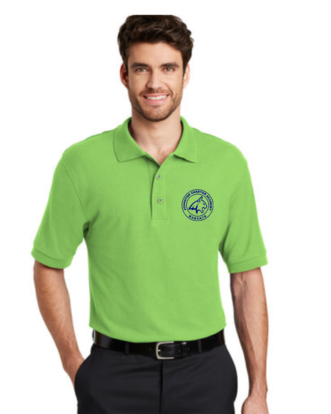 Men's Lime Green Bobcat Polo