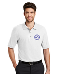 Men's White Bobcat Polo