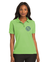 Women's Lime Green Bobcat Polo
