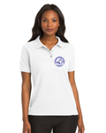 Women's White Bobcat Polo