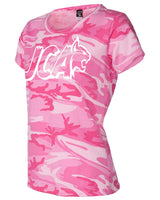 Ladies Pink Camo Army Tee