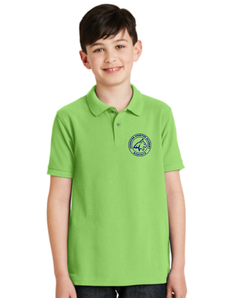 Children's Lime Green Bobcat Polo