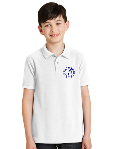 Children's White Bobcat Polo