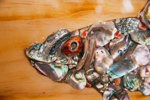 Abalone Inlayed Trout Fish