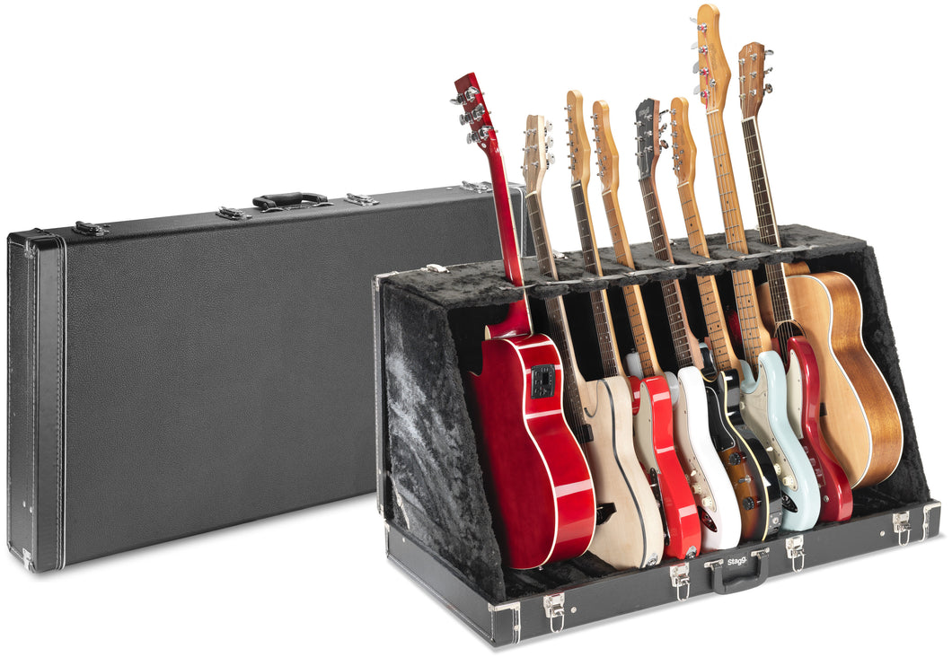Guitar Stand Case for 8 Electric or 4 Acoustic Guitars