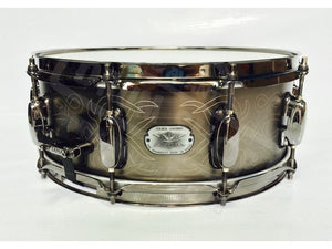"Tama Metal Works Hand Engraved Steel 14""x5.5"" Snare"