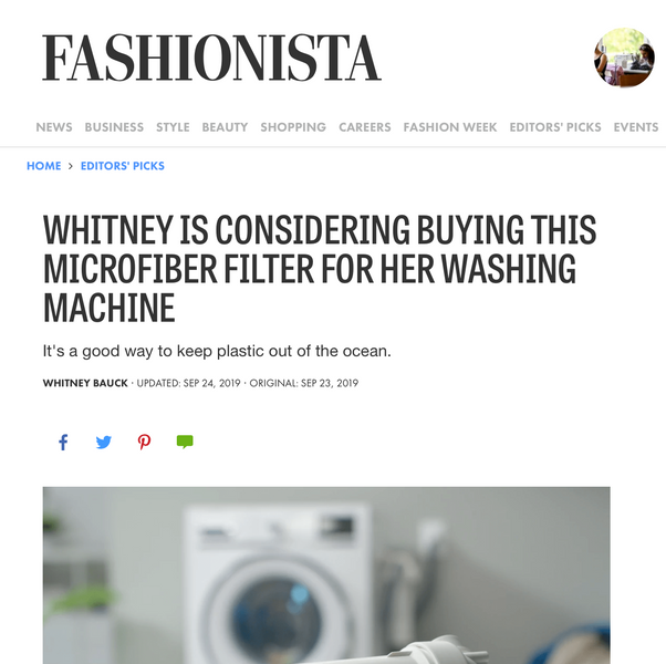 Whitney is considering buying this microfiber filter for her washing machine