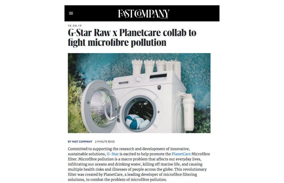 G-Star Raw x PlanetCare collab to fight microfibre pollutin