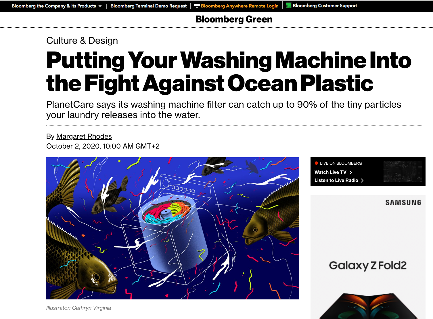 Bloomberg Green Microfiber Pollution