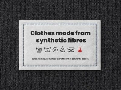clothing label microfiber pollution