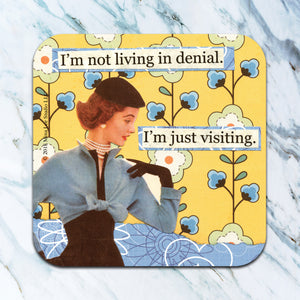 I'm not living in denial. I'm just visiting. - funny coaster