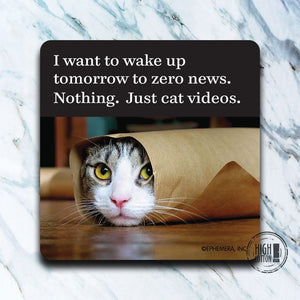 Nothing. Just Cat Videos funny coaster