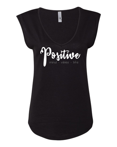 Positive Vibes Sleeveless V