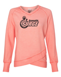 Surge Criss Cross V-Neck Sweatshirt