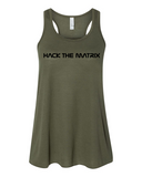 Hack The Matrix Ladies Flowy Tank